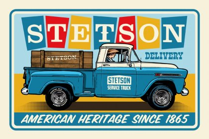 mix STETSON Metal Display Chevy Pick Up