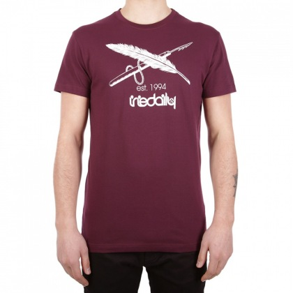 triko IrieDaily Harpoon Flag Tee red wine
